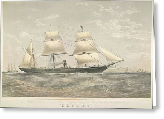 Pando Steamship 'ceylon' Greeting Card by British Library