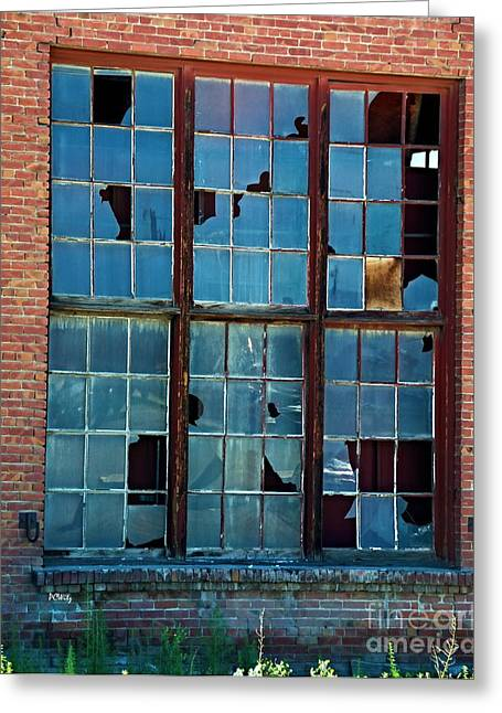 Purchase Greeting Cards - Pane Fully Broken Greeting Card by Patrick Witz