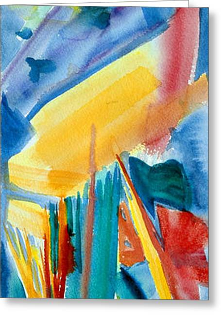 Abstract Expressionist Greeting Cards - Panel of Dance One The Thinker Greeting Card by  Tolere
