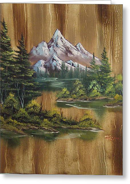 Decour Greeting Cards - Paneled Mountains Greeting Card by Samuel Jaycox