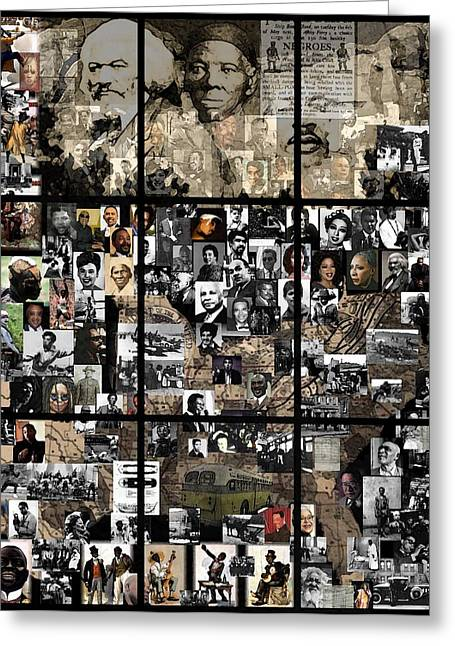 Underground Railroad Digital Art Greeting Cards - Panes of History Greeting Card by Marcus Lewis