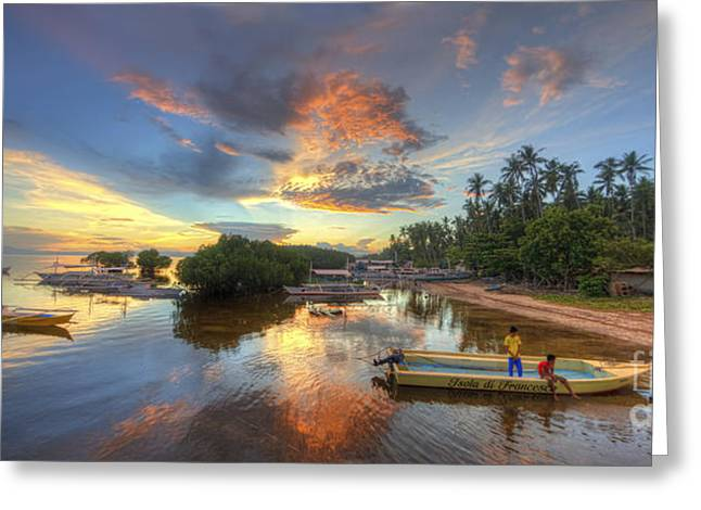Panglao Port Sunset 7.0 Greeting Card by Yhun Suarez
