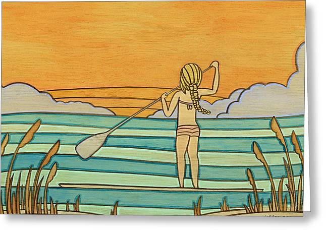 Recently Sold -  - Surfing Art Greeting Cards - Panhandle Summer Greeting Card by Joe Vickers