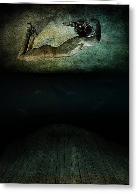 Modern Digital Art Digital Art Greeting Cards - Panic Greeting Card by Johan Lilja
