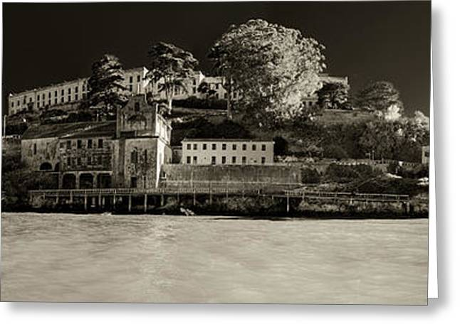 Panorama Alcatraz Up Close Greeting Card by Scott Campbell