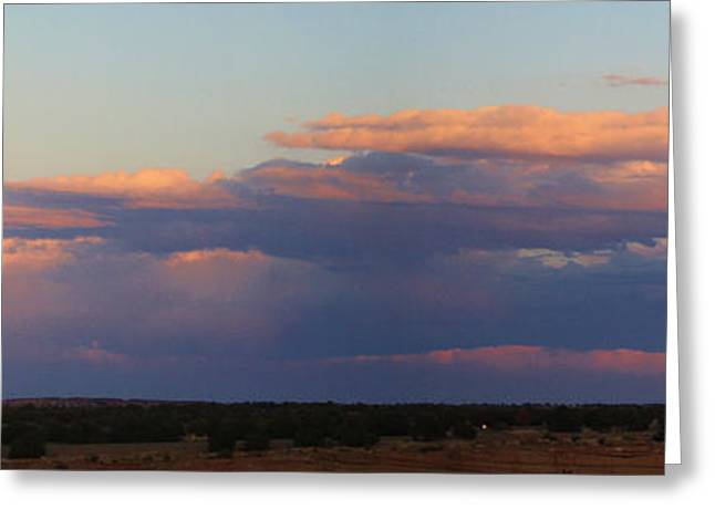 Panorama Colors In The Clouds Greeting Card by Roena King