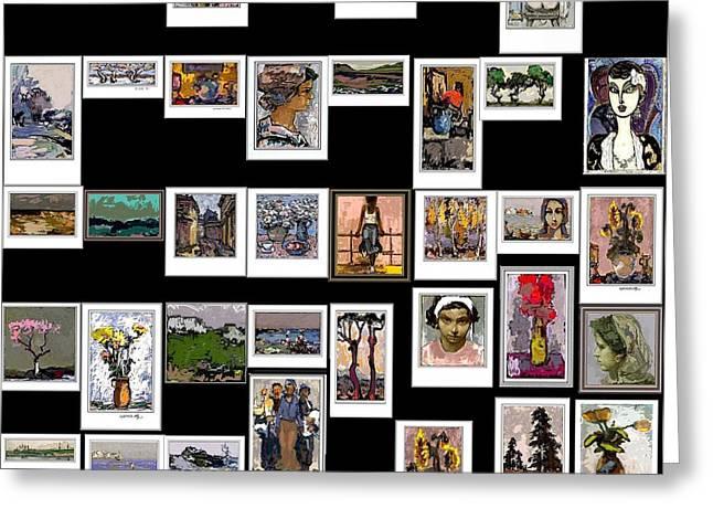 Panorama Digital Graphics Greeting Card by Pemaro
