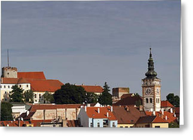 Chateau Greeting Cards - panorama - Mikulov castle Greeting Card by Michal Boubin
