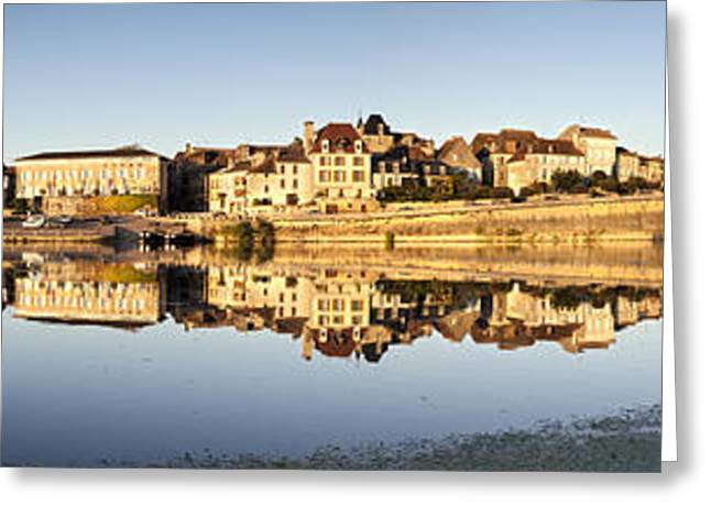 Dordogne Greeting Cards - Panorama of Bergerac and Dordogne River France Greeting Card by Colin and Linda McKie