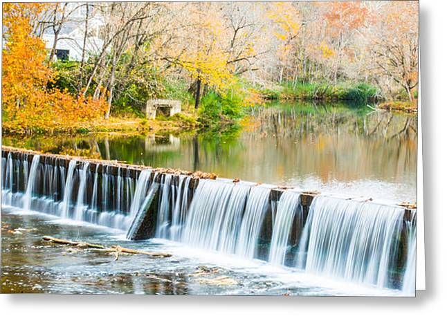 Panorama Of Buck Creek In Autumn Greeting Card by Parker Cunningham
