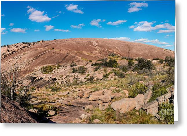 Llano Greeting Cards - Panorama of Enchanted Rock State Natural Area - Fredericksburg Texas Hill Country Greeting Card by Silvio Ligutti
