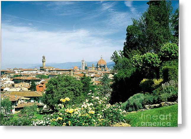 Michelangelo Greeting Cards - Panorama Of Florence Greeting Card by Rafael Macia