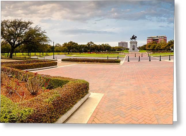 Medical Greeting Cards - Panorama of Hermann Park Houston Texas Greeting Card by Silvio Ligutti