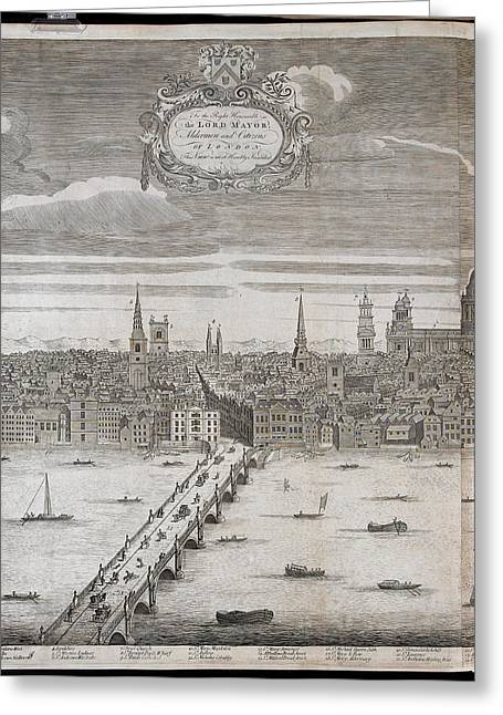 Panorama Of London Greeting Card by British Library