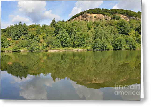 Green Day Greeting Cards - Panorama of Meuse valley in Champagne-Ardenne Greeting Card by Skyfish Images