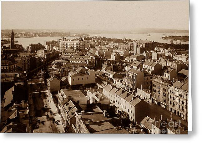 Syndey Greeting Cards - Panorama of Sydney Australia Greeting Card by The Keasbury-Gordon Photograph Archive