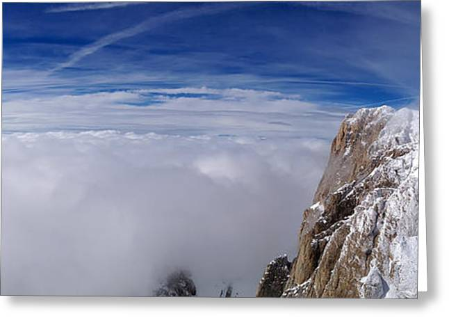 Blizzard Scenes Greeting Cards - Panorama of the Alps Greeting Card by Evgeny Govorov
