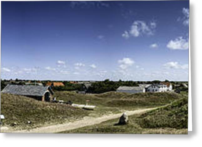 Winter Storm Greeting Cards - Panorama of the island Mando Denmark Greeting Card by Frank Bach