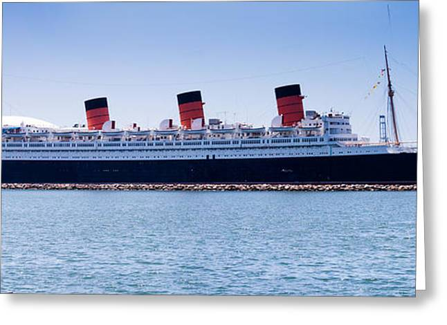 Recently Sold -  - Ocean Panorama Greeting Cards - Panorama of the Queen Mary Greeting Card by Thomas Marchessault