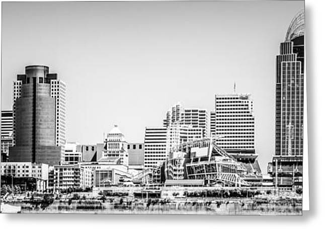 Panorama Picture Of Cincinnati Skyline Greeting Card by Paul Velgos