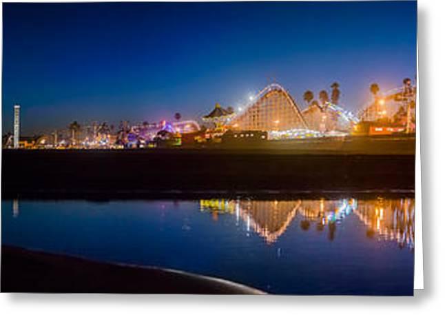 Panorama - Santa Cruz Boardwalk Greeting Card by Scott Campbell