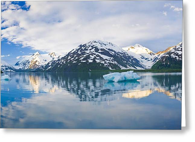 Panorama Scenic Of Portage Lake With Greeting Card by Michael DeYoung