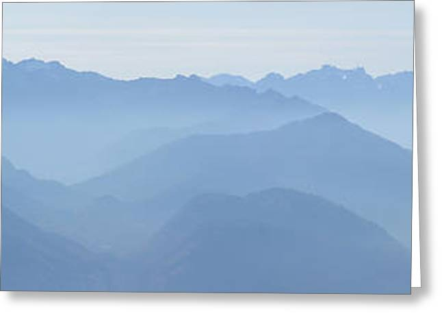 Rudi Prott Greeting Cards - Panorama View of the Bavarian Alps Greeting Card by Rudi Prott