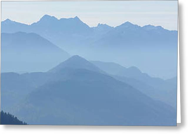 Panorama View Of The Bavarian Alps Greeting Card by Rudi Prott