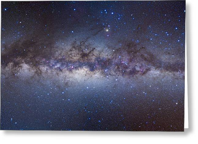 Constellations Greeting Cards - Panorama View Of The Center Greeting Card by Alan Dyer