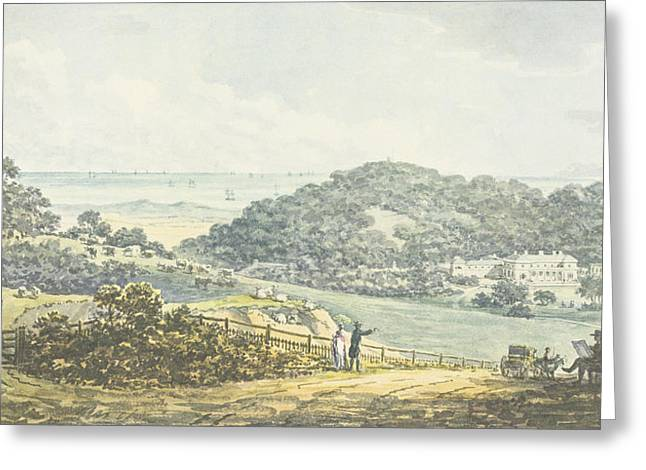 Jane Austen Drawings Greeting Cards - Panoramic After View, From The Red Book Greeting Card by Humphry Repton
