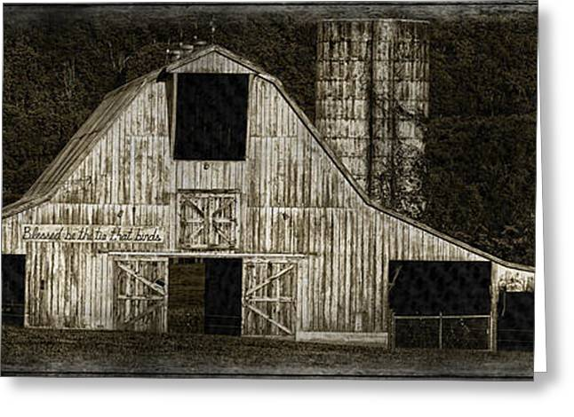 Tennessee Barn Greeting Cards - Panoramic Barn Greeting Card by Picd by T Photography
