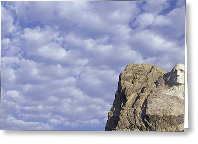 Panoramic Image With White Puffy Clouds Greeting Card by Panoramic Images