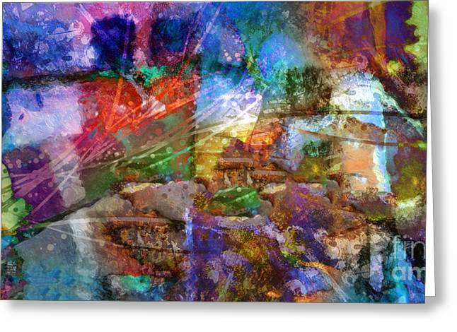 Abstract Fields Greeting Cards - Panoramic Greeting Card by Lutz Baar