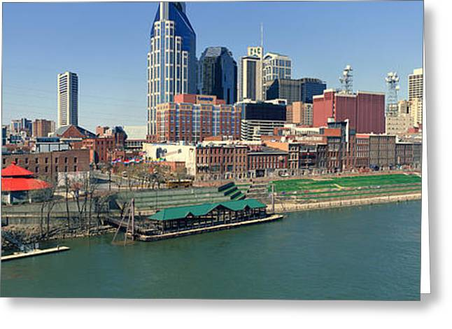 Panoramic Morning View Of Cumberland Greeting Card by Panoramic Images