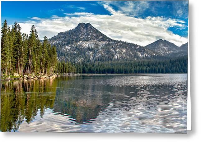 Haybale Greeting Cards - Panoramic Of Anthony Lake Greeting Card by Robert Bales