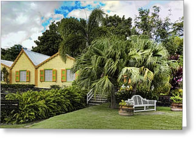 Panoramic Of Batik Studio In St  Kitts  Greeting Card by David Smith
