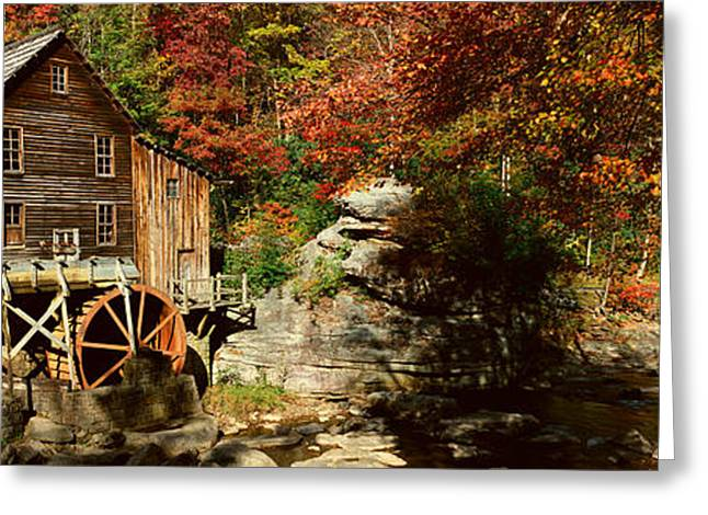 Water Mill Greeting Cards - Panoramic Of Glade Creek Grist Mil Greeting Card by Panoramic Images