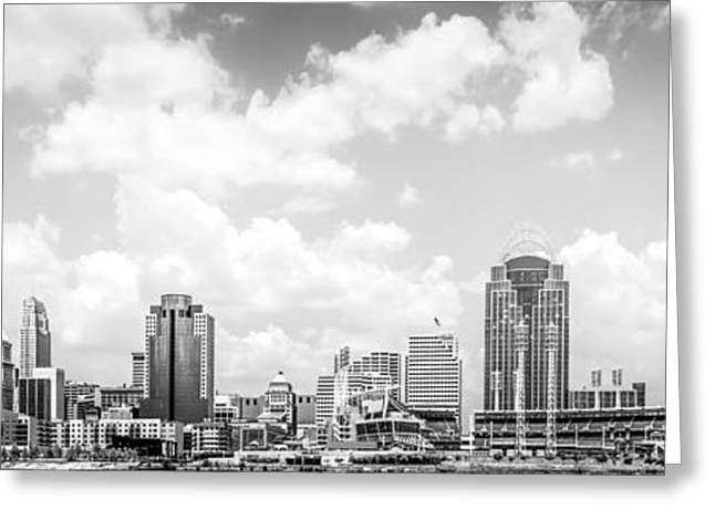 Panoramic Picture Of Cincinnati Skyline Greeting Card by Paul Velgos