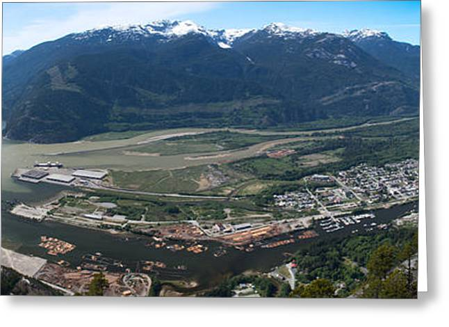 Black Top Greeting Cards - Panoramic view at chief Greeting Card by Andy Fung