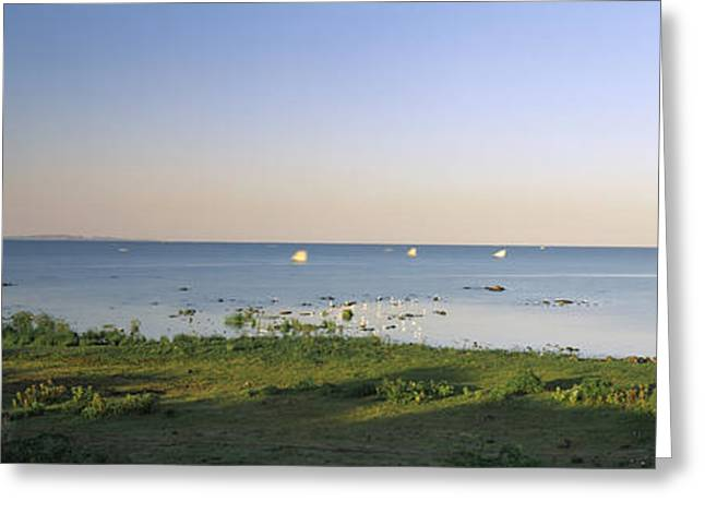 Rift Greeting Cards - Panoramic View Of A Lake, Lake Greeting Card by Panoramic Images