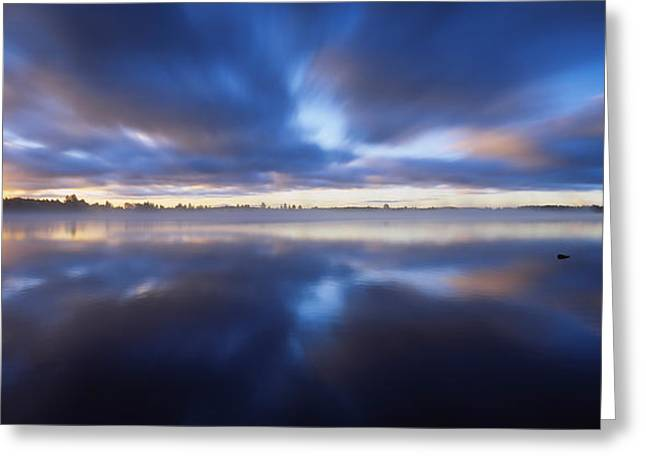 Reflections In River Greeting Cards - Panoramic View Of A River, Vuoksi Greeting Card by Panoramic Images