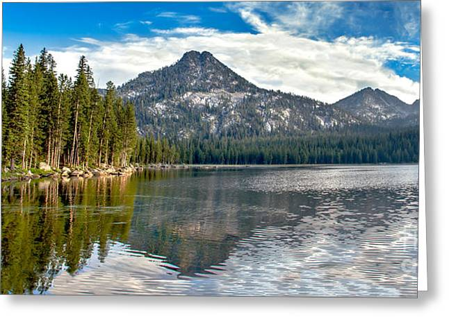 Haybale Photographs Greeting Cards - Panoramic View Of Anthony Lake Greeting Card by Robert Bales