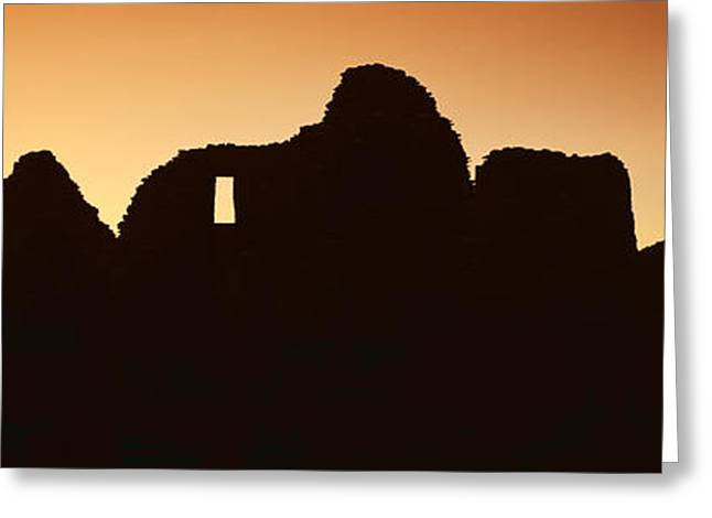 Panoramic View Of Chaco Canyon Indian Greeting Card by Panoramic Images