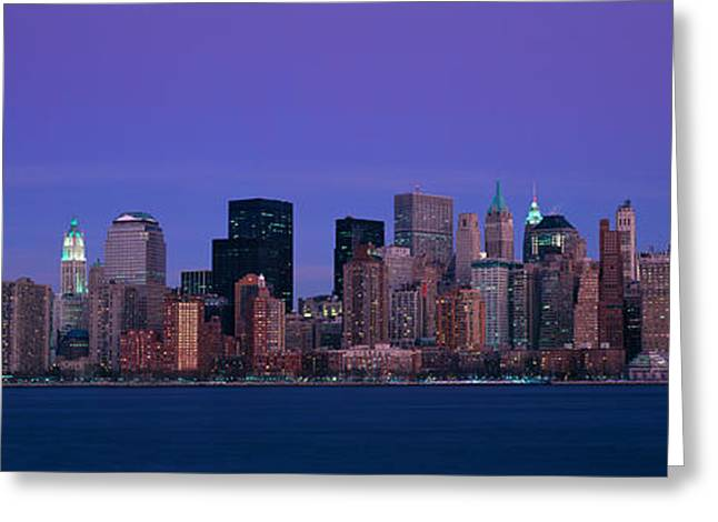 9-11 Greeting Cards - Panoramic View Of Full Moon Rising Greeting Card by Panoramic Images