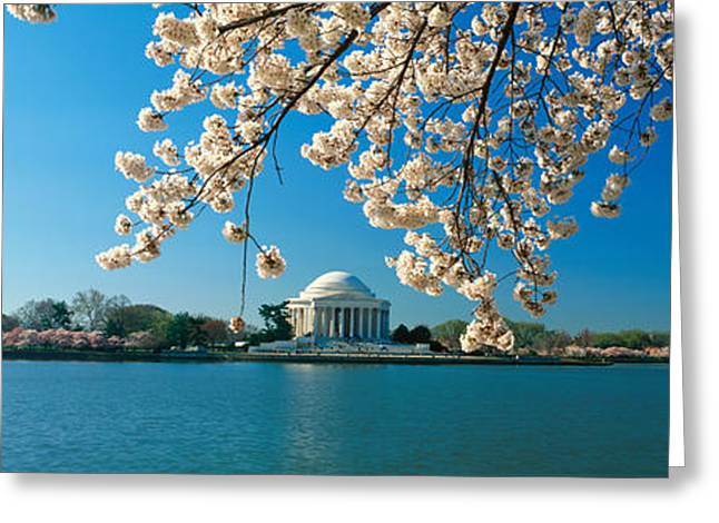D Thomas Greeting Cards - Panoramic View Of Jefferson Memorial Greeting Card by Panoramic Images
