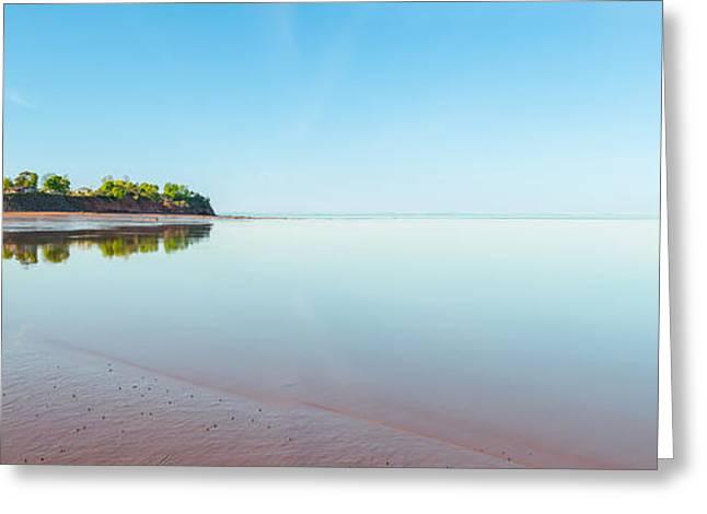 Minas Basin Greeting Cards - Panoramic view of Minas Basin at low tide Greeting Card by Vadim Petrov