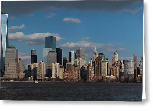 Panoramic View Of New York City Skyline Greeting Card by Panoramic Images