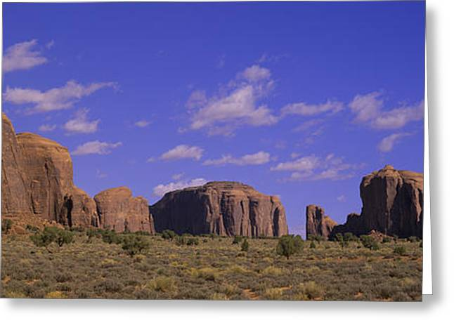 Navajo Basin Greeting Cards - Panoramic View Of Red Buttes Greeting Card by Panoramic Images