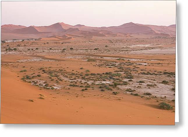 Daddy Greeting Cards - Panoramic View Of Sand Dunes Viewed Greeting Card by Panoramic Images