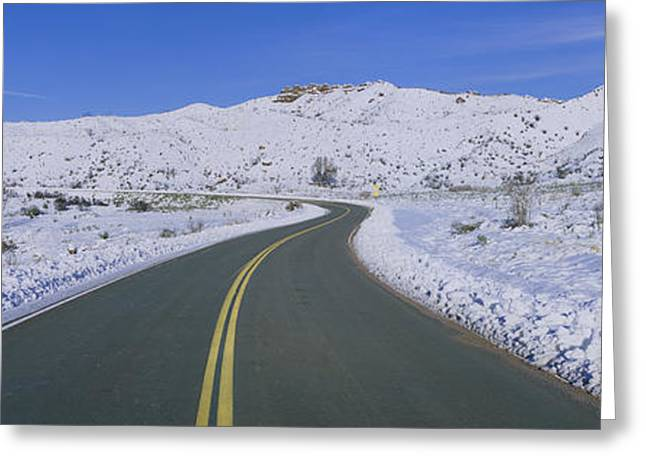 Padres Greeting Cards - Panoramic View Of Winter Snow Greeting Card by Panoramic Images